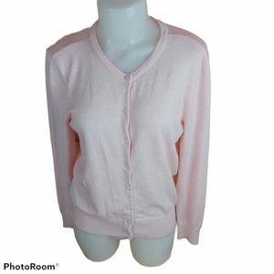 H&M BASIC pink knitted cardigan size medium